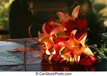 Tiger lilly Bouquet - Bridal bouquet with tiger lillies