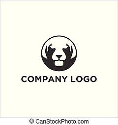 tiger, logo, projekty, twarz