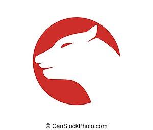 tiger, logo, szablon