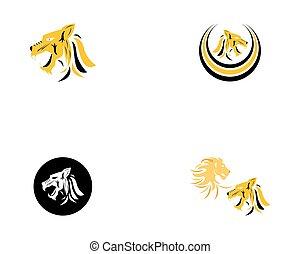 Tiger Logo Template vector icon illustration design