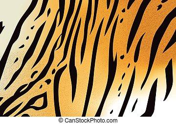 tiger, mønster, stribe, bengalen