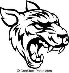 Tiger Mean Animal Mascot