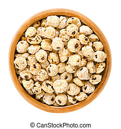 Tiger nuts, earth almonds, dried, in wooden bowl - Tiger ...