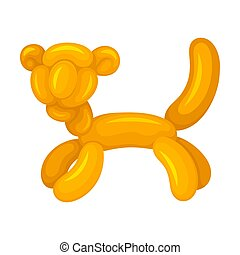 Tiger of balloons. Vector illustration on a white background.