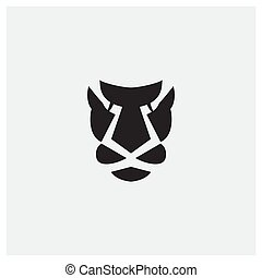 tiger or line or leopard or cheetah head face silhouette logo design