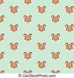 Tiger pattern.
