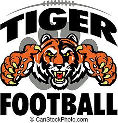 tiger, piłka nożna, projektować