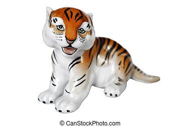 tiger, porcelana