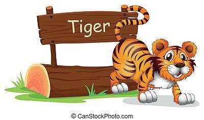 tiger, posição, pular