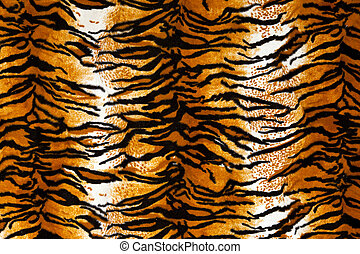 Tiger Print Background - Close up shot of tiger print...