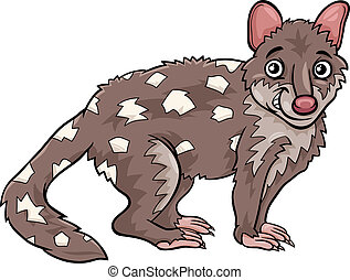 tiger quoll animal cartoon illustration