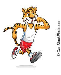 Tiger Runner - tiger is running like athletes runners