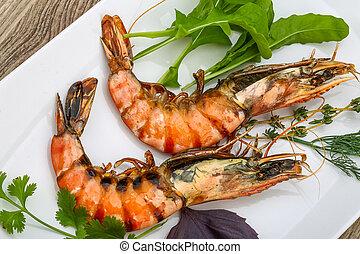 Tiger shrimps