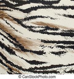 Tiger skin artificial pattern - Brown and white tiger skin...