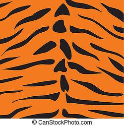 tiger skin - vector tiger skin background