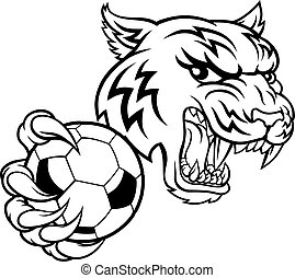 Tiger Soccer Football Player Animal Sports Mascot