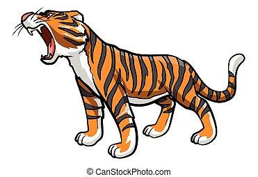 tiger, spotprent