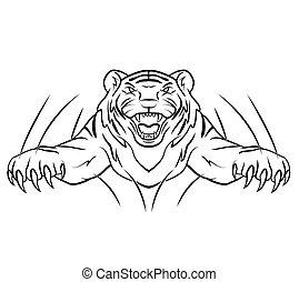 tiger, sprong