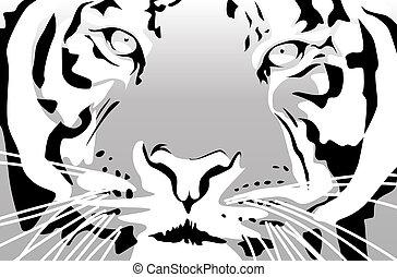 Tiger - Abstract vector illustration of a tiger