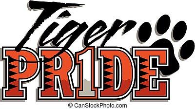tiger, stolz