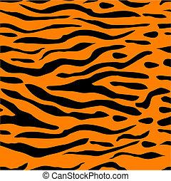 tiger, stribe, baggrund, seamless