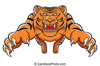 tiger, támad