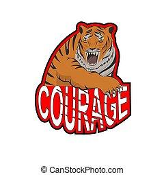 Tiger t shirt design motivation slogan