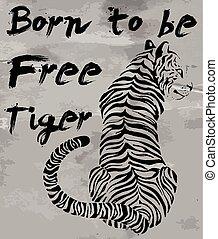 tiger t-shirt graphic slogans vector design