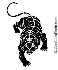 tiger, tatovering