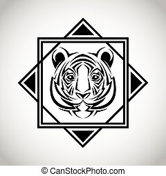 tiger tattoo animal design