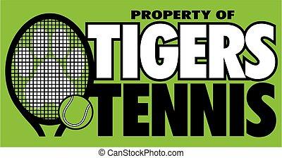 tiger, tennis