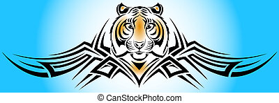 tiger tribal - Vector illustration representing a tiger from...