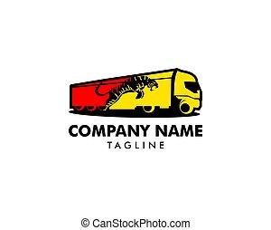 Tiger truck logo design vector illustration