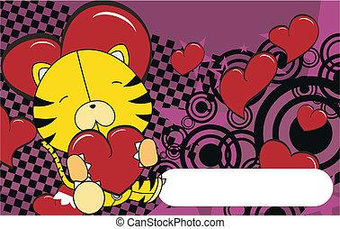 tiger valentine plush background