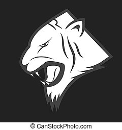 Tiger Vector lable - vector illustration of tiger logo in...