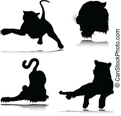 tiger vector silhouettes