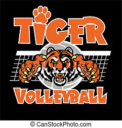 tiger volleyball design