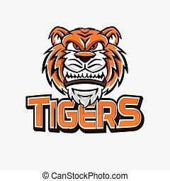 tigers banner illustration design