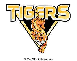 tigers banner illustration design