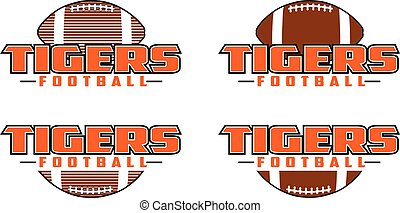Tigers Football Design