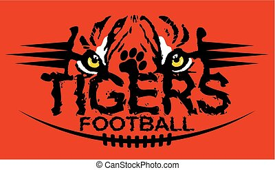tigers football - tiger eyes football team design for...