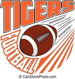 Tigers Football Team Design