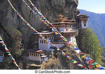 Tiger's Nest, Taktsang Monastery, Bhutan - Tiger's Nest,...