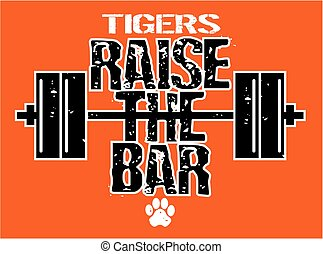 tigers raise the bar weightlifting design with barbell for ...