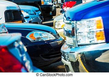 Tight Car Parking Closeup