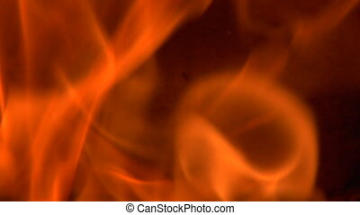 tight slow-motion shot of flames