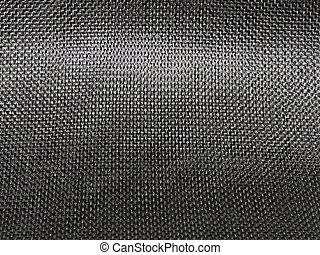 Close up shot of a tight-weave Carbon Fiber Cloth (fabric)