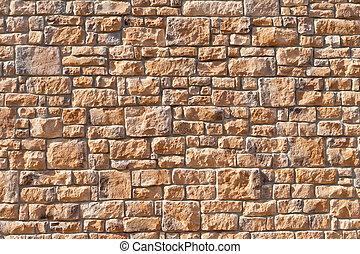 Tightly Packed Full Frame Stone Wall