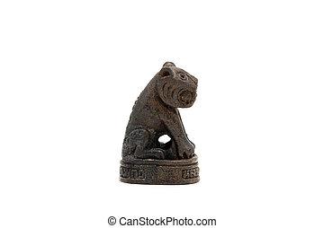 tigre, amulette, peu, symbolique