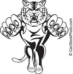 tigre, attaquer